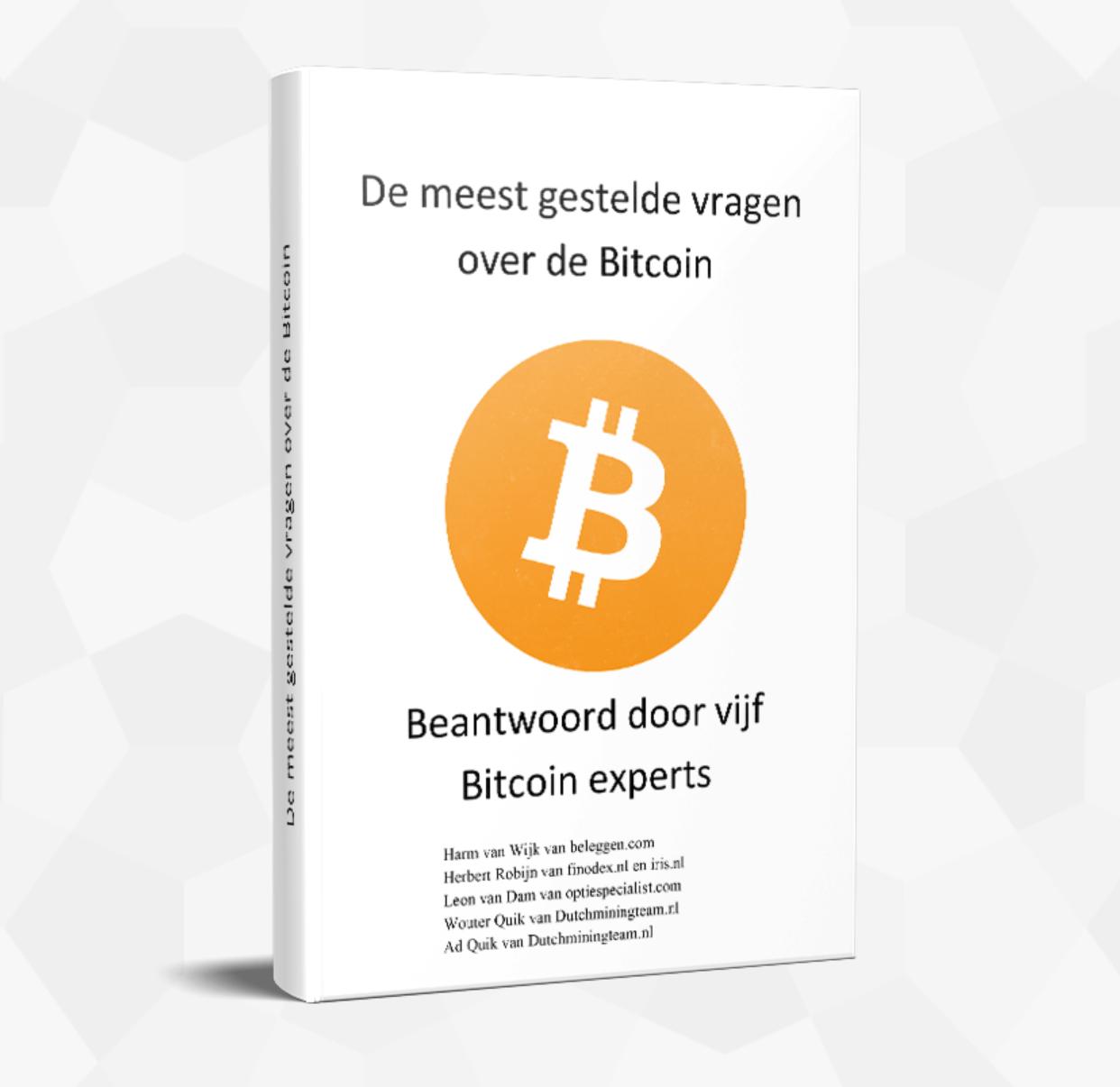 Bijdrage in verzend en afhandelingkosten Boek De meest gestelde vragen over de Bitcoin