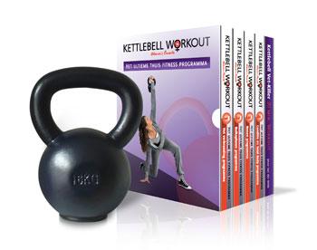 Strakkebuikspieren Kettlebell Workout Mannen 16kg Kettlebell